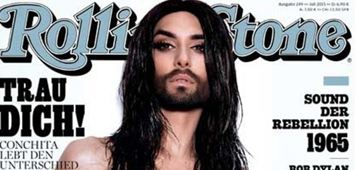 Vencedora do Eurovision 2014 Conchita Wurst Faz Topless Para a 'Rolling Stone'