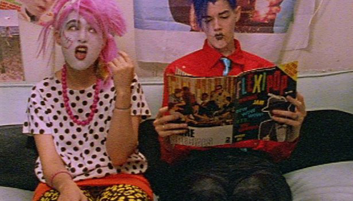 Kathleen Hanna, makeup, weird, clown, gay, queer, magazine, movie, film, outfest