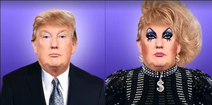 VIDEO: Donald Trump Is One Ugly Drag Queen