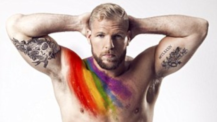 PICS: Rugby Player James Haskell Strips To Support Gays