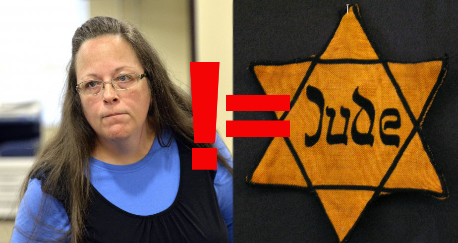 Umm, No: Team Kim Davis Compares Anti-Gay Clerk to Holocaust Victim