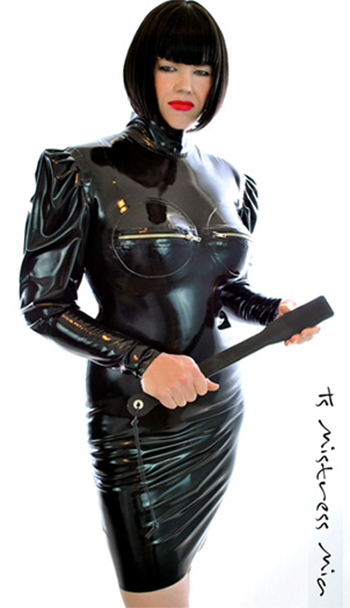 Mistress Mia, dominatrix, BDSM, leather, mask, woman, transwoman