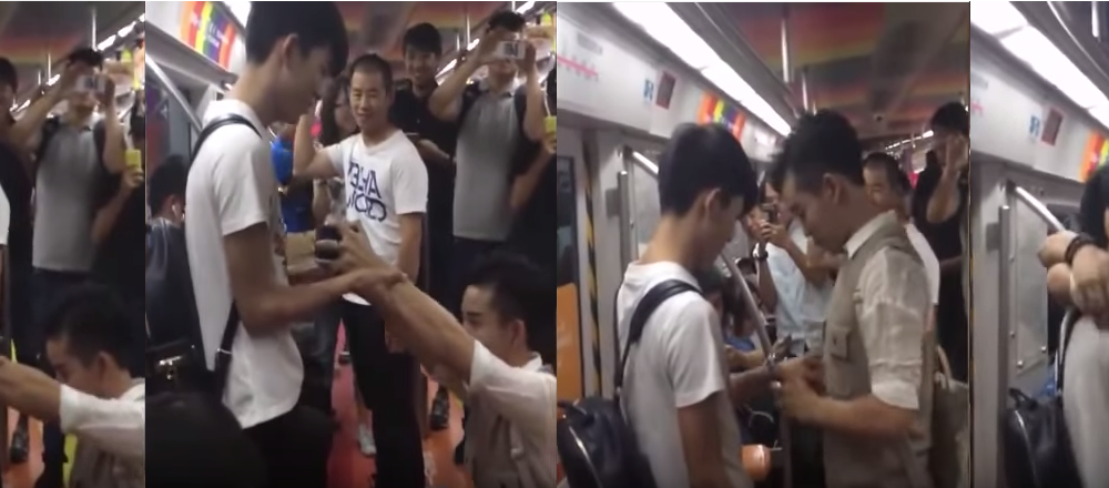 VIDEO: Adorkable Gay Marriage Proposal on Beijing Subway