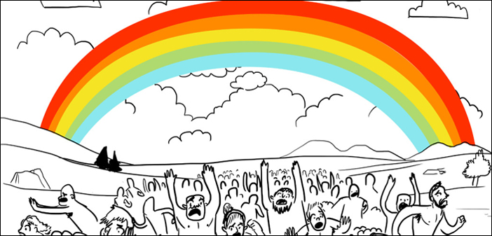 """Naked Bears and Aliens Dominate Funny """"First Rainbow"""""""