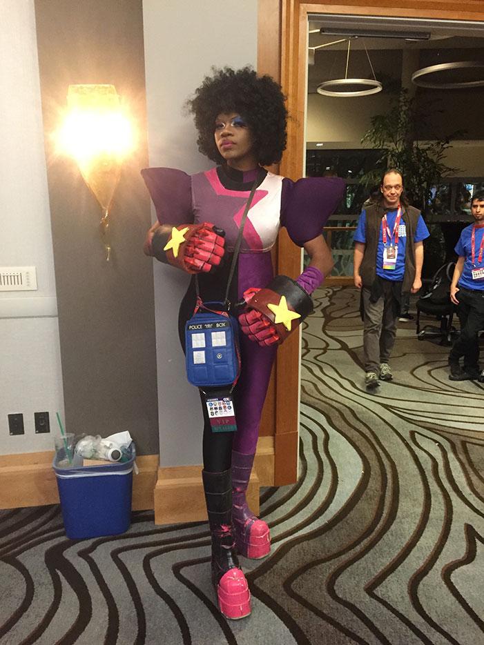 GaymerX, cosplay, video games, geek, costume, Steven Universe, Garnet