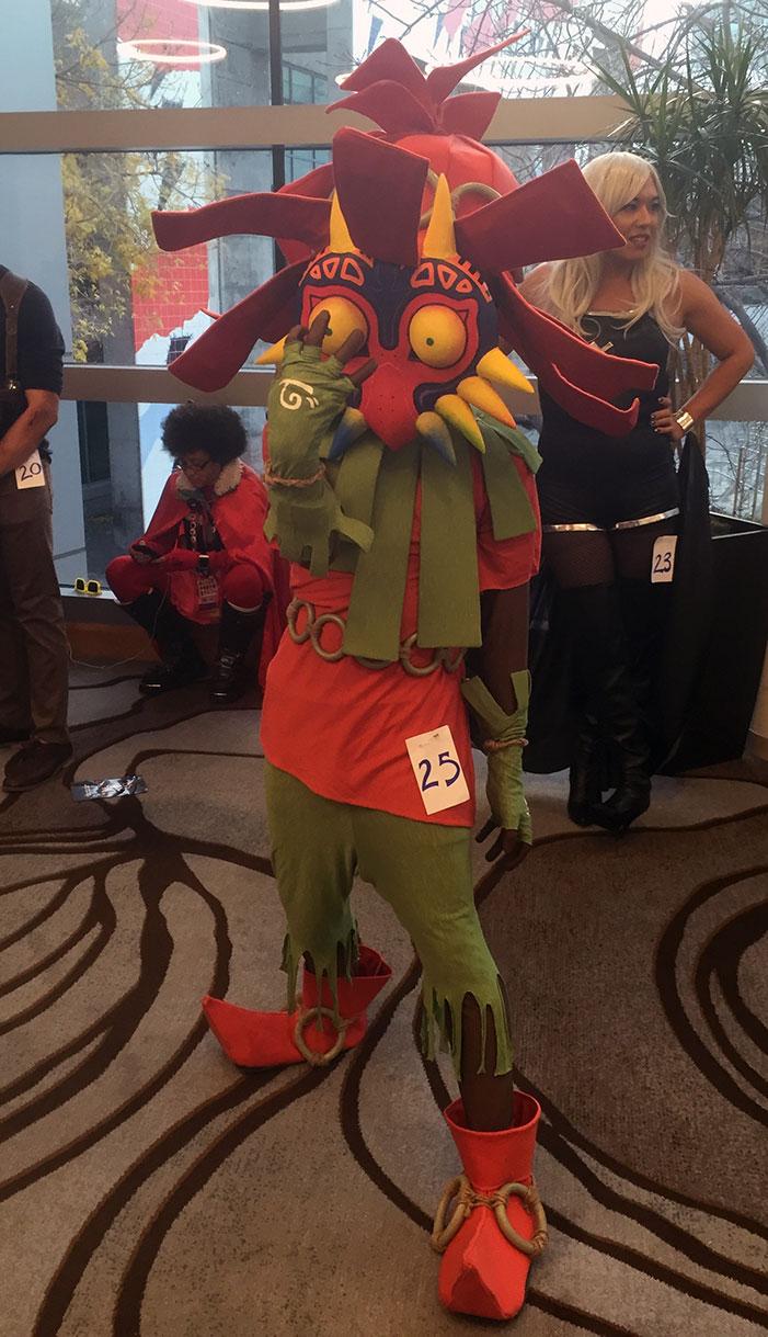 GaymerX, cosplay, video games, geek, costume, Majora's Mask, Deku, Nintendo, Legend of Zelda