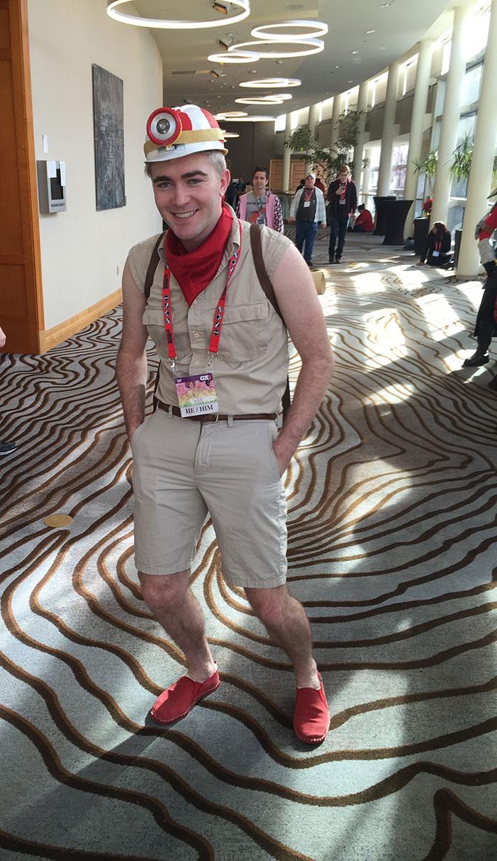 GaymerX, cosplay, video games, geek, costume, spelunking, Toad, Super Mario Brothers