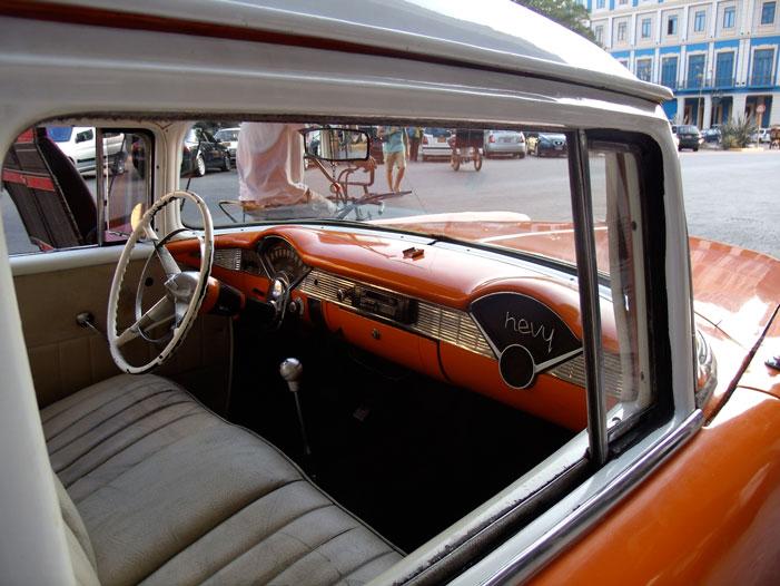 Cuba, Havana, car, automobile, old, interior