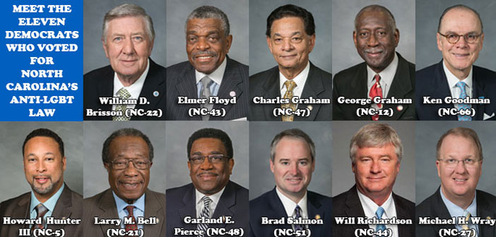 Meet the 11 Democrats Who Voted For North Carolina's Anti-LGBT Law