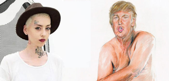 The Artist Behind The Nude Trump Drawing Is Getting Death, Rape And Legal Threats