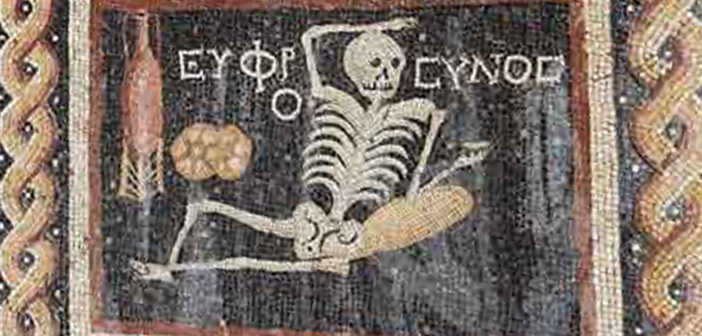 "2,400 Year Old Mosaic Basically Says ""YOLO"" On It"