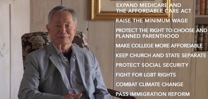 """VIDEO: George Takei Urges Bernie Sanders Supporters To """"Vote Blue No Matter Who"""""""