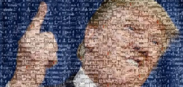 A Donald Trump Portrait Made Entirely Out of KKK Members