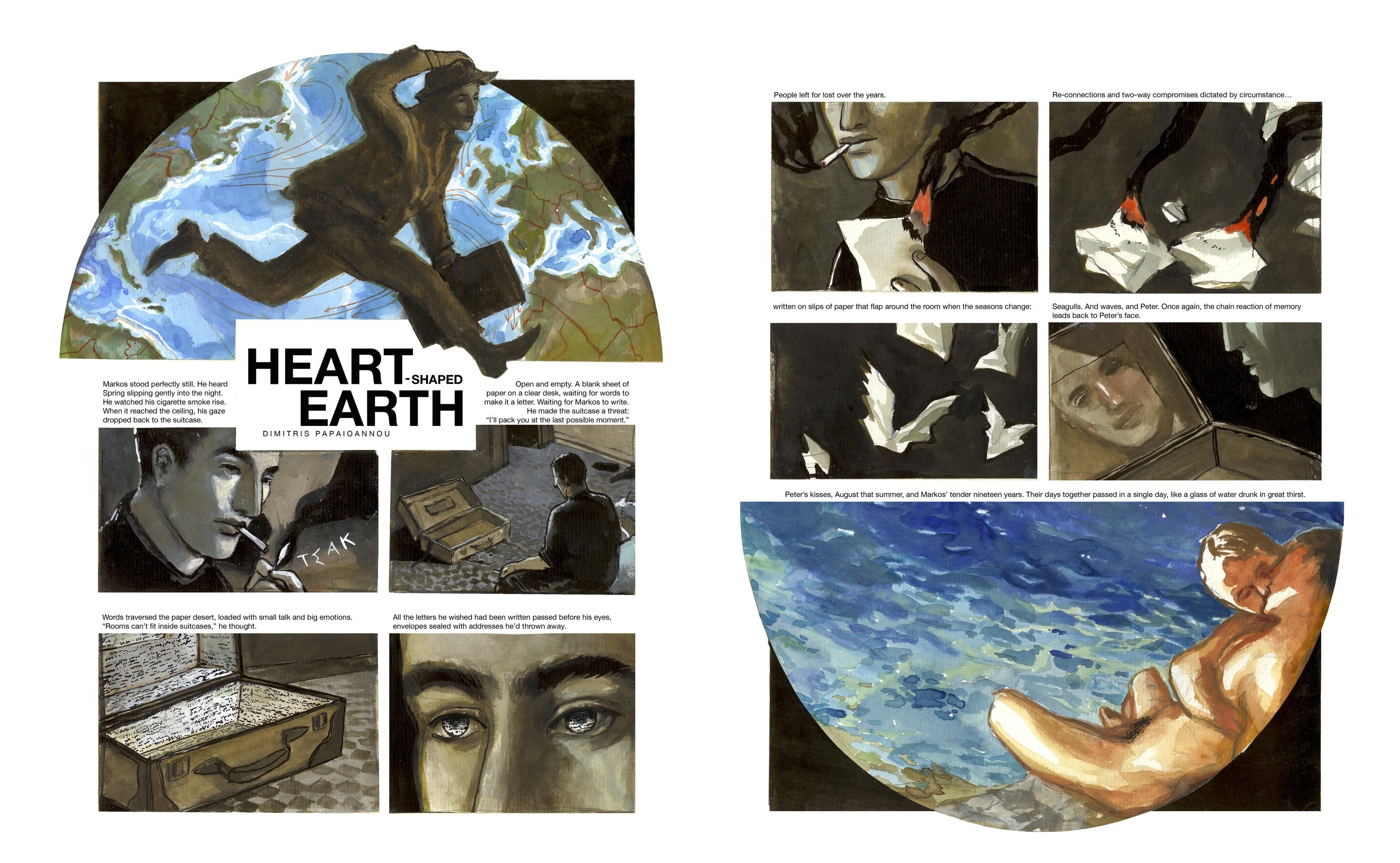 Dimitris Papaioannou, Heart-shaped Earth, Gay Comics, Queer Comics, Greece
