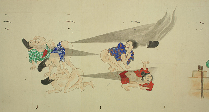 The Fart of War: Behold, A Scroll of Epic Japanese Fart Battles!