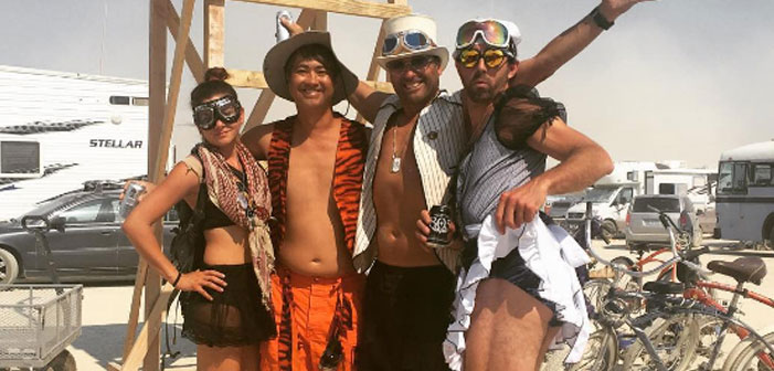 ON FIRE! 10 of the Hottest Men and Women from Burning Man 2016