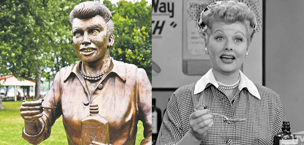 It's Lucille Ball's Birthday: She Supported Gay Rights and Had a Scary Statue