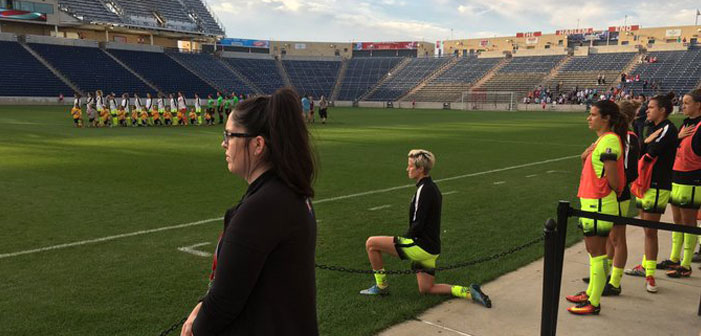 Soccer Player Megan Rapinoe Joins Colin Kaepernick's Protest of National Anthem