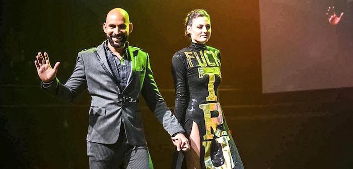 Gay Designer Unveils 'Fuck Trump' Dress at Austin Pride Event