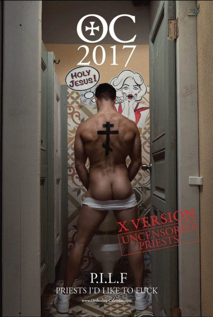 orthodox church, homophobia, gay, hot guys, naked guys, calendar, orthodox priests