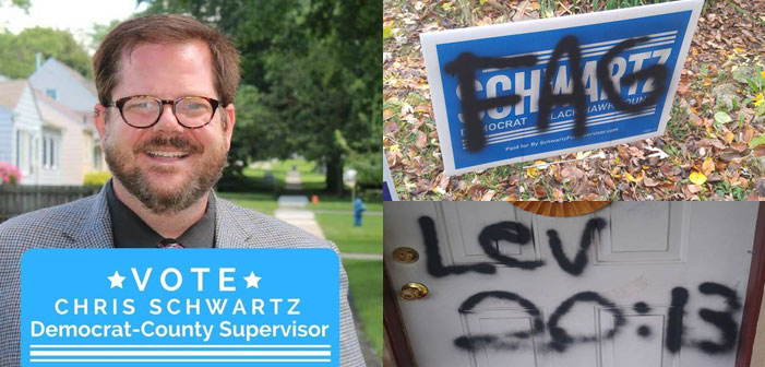 Vandal Spray Paints 'FAG' on Gay Iowa Democratic Candidate's Home