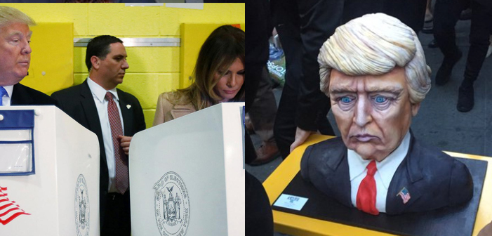 Trump Celebrates Impending Loss with Creepy-Ass Trump Cake