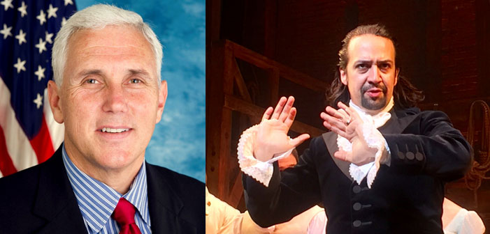 Hamilton Audience, Cast and Crew Trolls Mike Pence