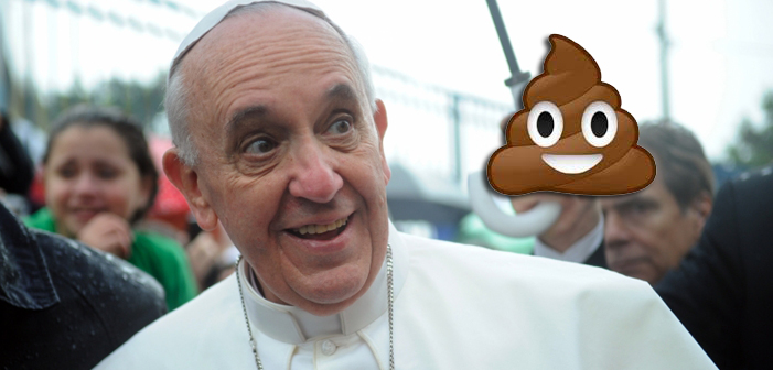 Pope Compares Fake News Sharers to Folks Who Eat Poop