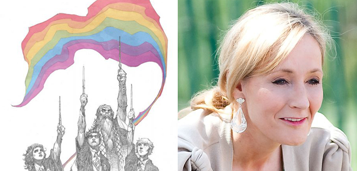 J.K. Rowling Approves Pro-LGBT Harry Potter Drawing for Pulse Orlando Fundraiser Comic Book
