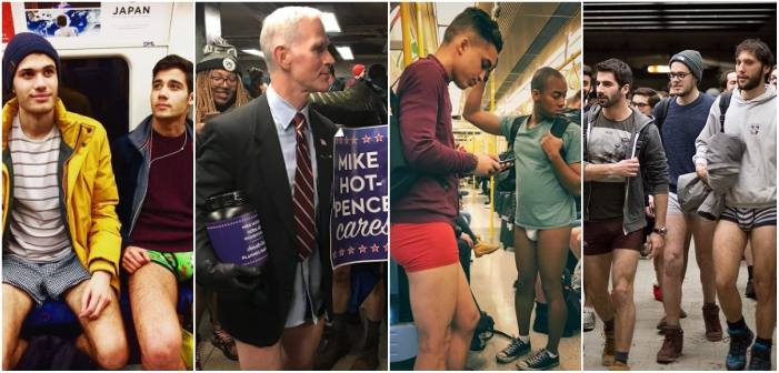 The 'No Pants Subway Ride' Gets (Hotter) Mike Pence, Others in Their Skivvies (Photos)