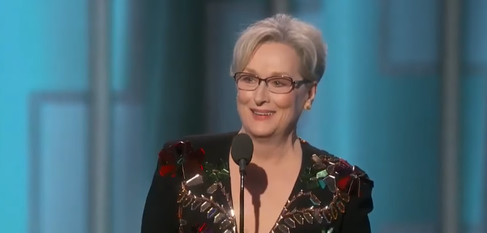 Meryl Streep Slams Trump in Globes Acceptance Speech, Trump Responds (Video)