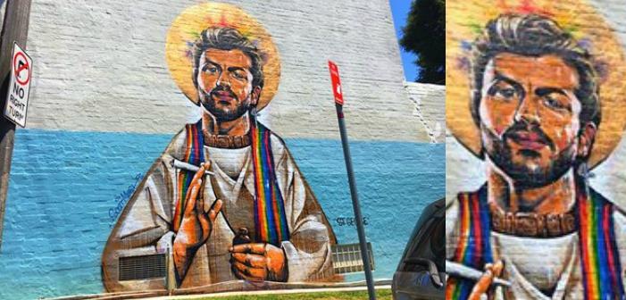 George Michael immortalisé en saint sur un mur peint (Photos)