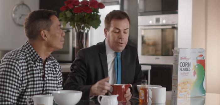 Au Royaume Uni, un couple gay dans la dernière pub Kellog's Corn Flakes (Vidéo)