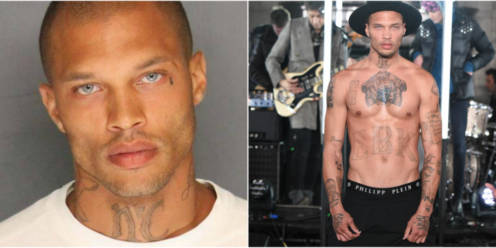 'Hot Felon' Jeremy Meeks Makes His Debut at New York Fashion Week (Video)