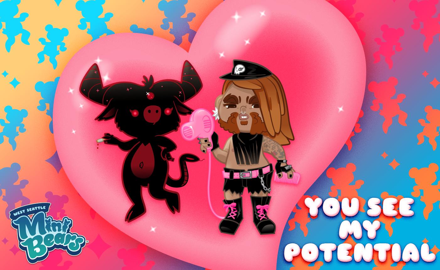 queer valentines mini bears 3