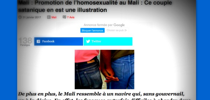 Au Mali, la chasse aux homos est (toujours) ouverte dans la presse