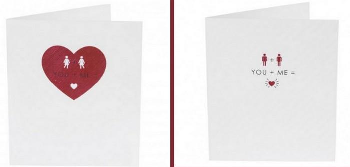 Des cartes Saint-Valentin pour les couples gays et lesbiens au Royaume-Uni
