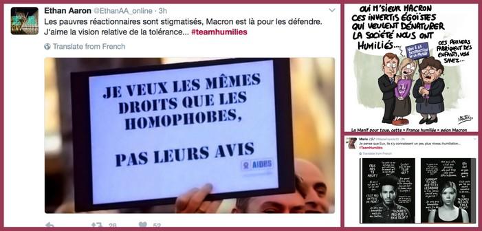 #teamhumiliés: quand les twittos réagissent avec colère aux propos de Macron sur la «Manif pour tous»