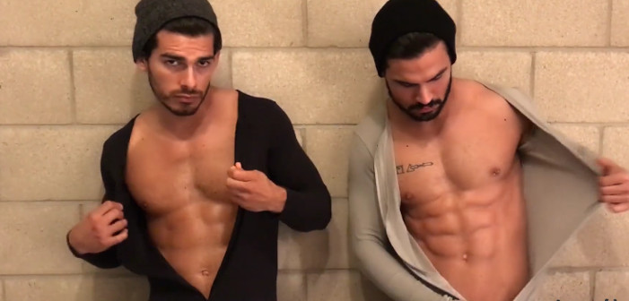 Start Your Weekend with Hot Twins Frolicking Around a Jeep in Their Underwear (Video)