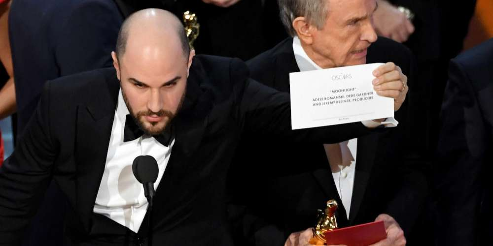 Oscars 2017: Relive Moonlight's Win in the Craziest Awards Show Moment Ever (Video)