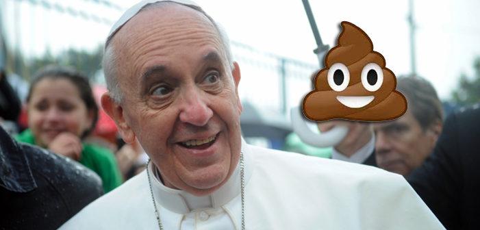 教宗表示散佈假新聞就跟吃大便一樣地糟