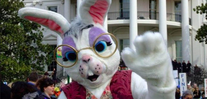 Sean Spicer Once Dressed Up as a Terrifying Easter Bunny at the White House (Photos)