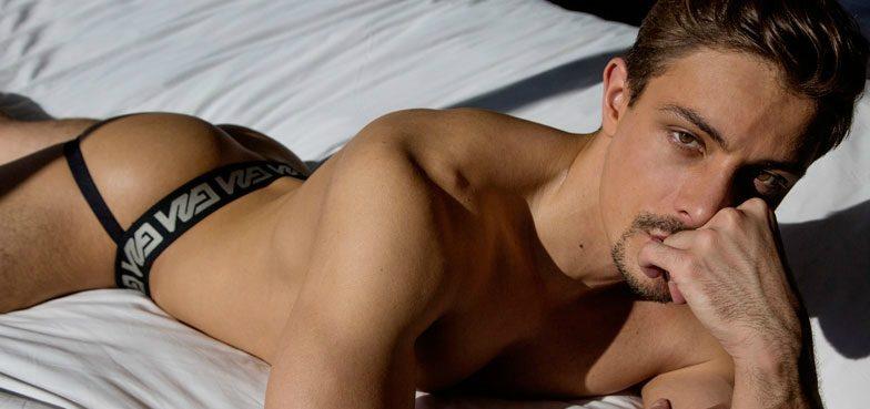 Gay Porn's Carter Dane Sizzles in New Garçon Model Jockstrap Campaign (NSFW)