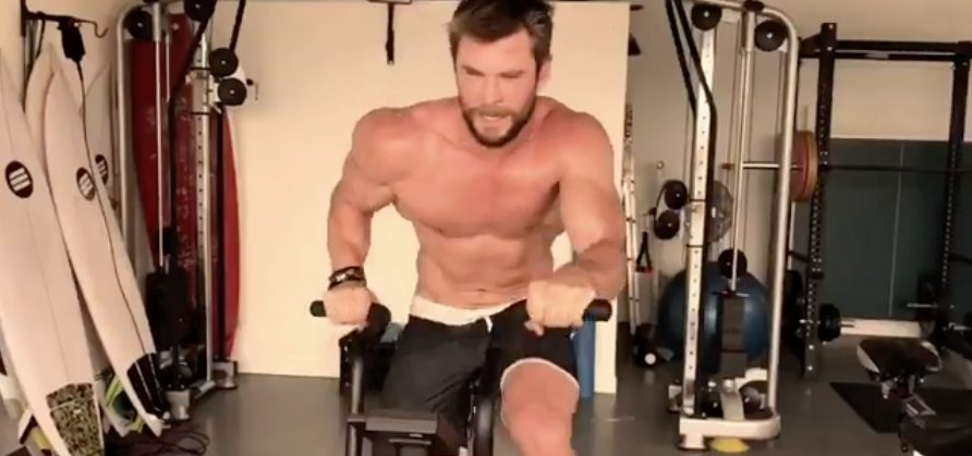 We're Mesmerized By Shirtless Chris Hemsworth's Sweaty Workout (Video)