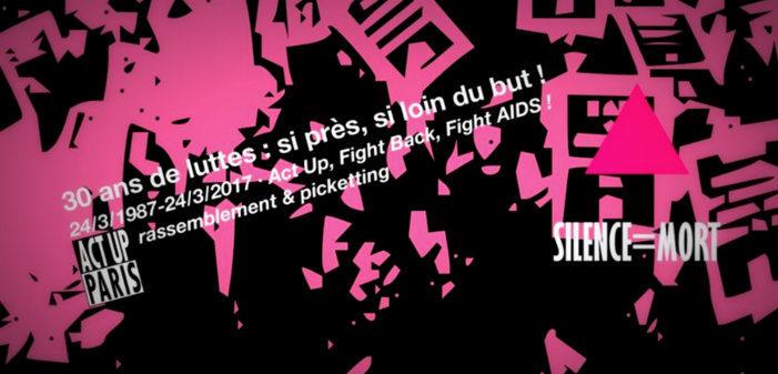 Un picketing contre le sida organisé à Paris pour les 30 ans d'Act Up New York