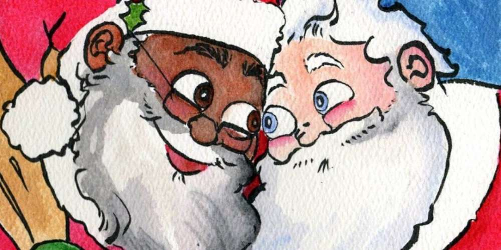 New Book Tells Kids the Truth About Santa: He's Black and Gay