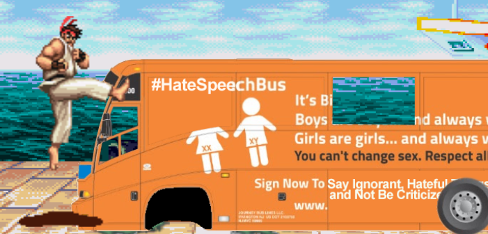 This Online Game Lets You Smash the Transphobic Hate Speech Bus
