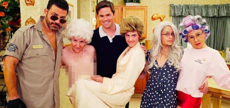 Lena Dunham and Cast of 'Girls' Parody 'The Golden Girls' for Jimmy Kimmel
