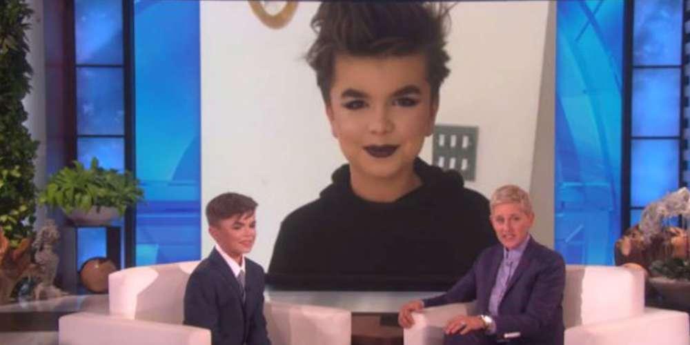 Ellen DeGeneres Habla con Niño de 12 Años Que Fue Golpeado Por Usar Maquillaje (Video)