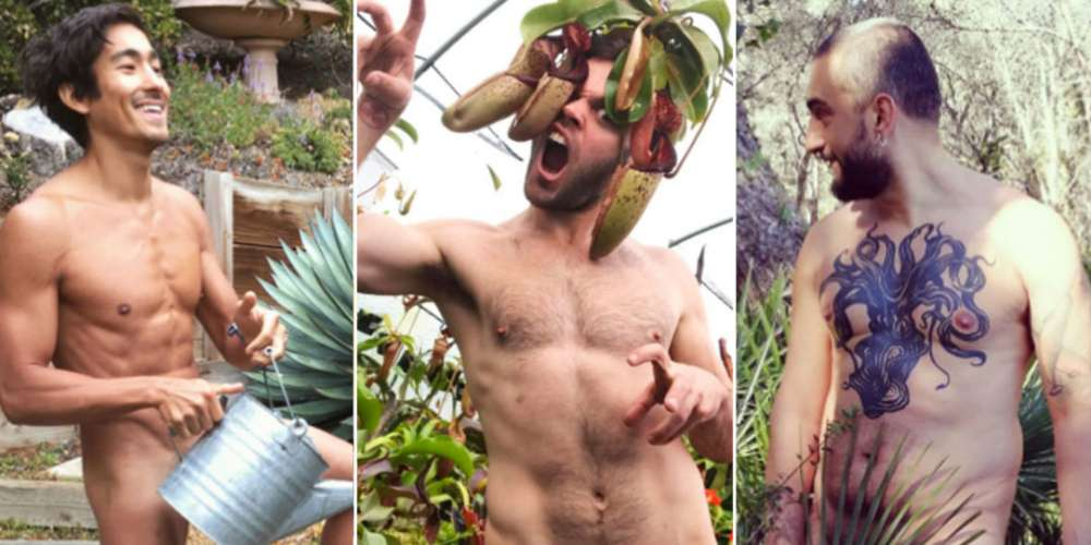In the Weeds: 8 Guys Who Documented Naked Gardening Day on Social Media